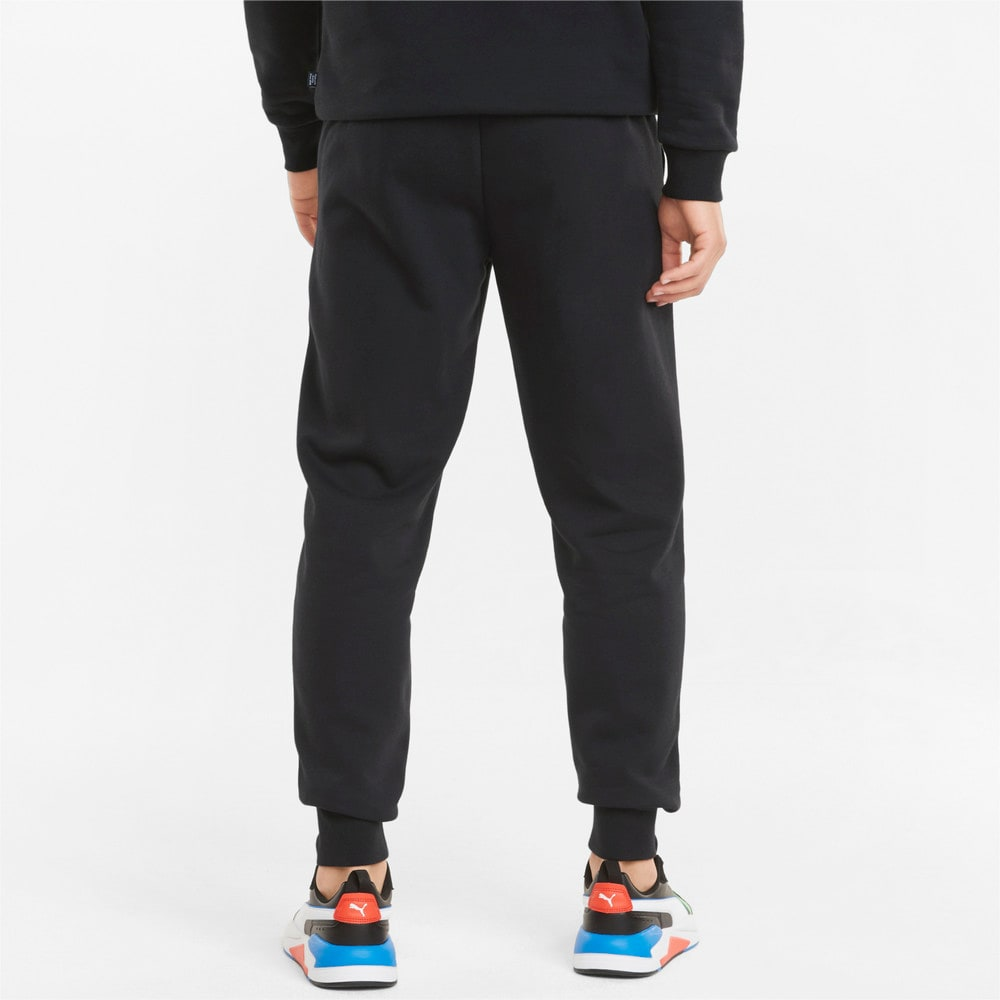 Изображение Puma Штаны Essentials+ 2 Col Logo Men's Pants #2: Puma Black-Green Flash