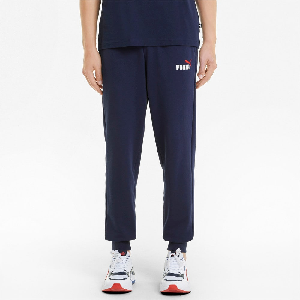 Зображення Puma Штани Essentials+ Two-Tone Logo Men's Pants #1