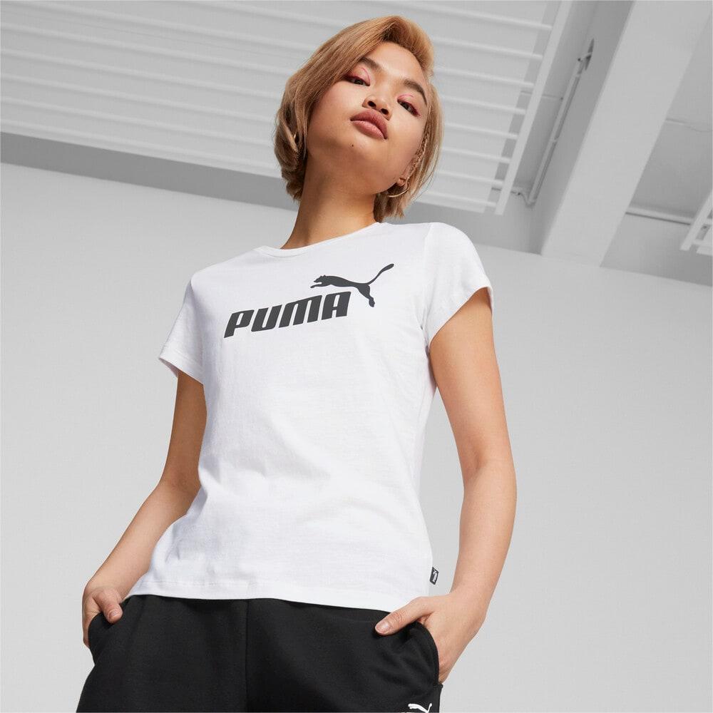 Зображення Puma Футболка Essentials Logo Women's Tee #1