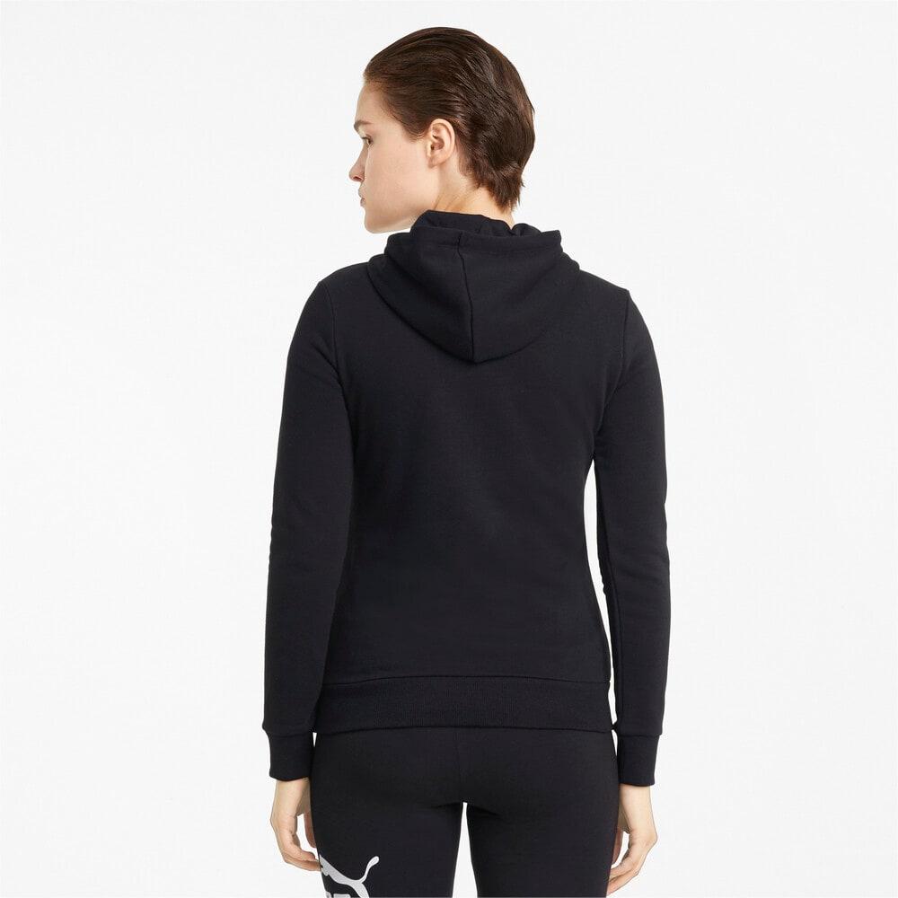 Изображение Puma Толстовка Essentials Logo Women's Hoodie #2: Puma Black