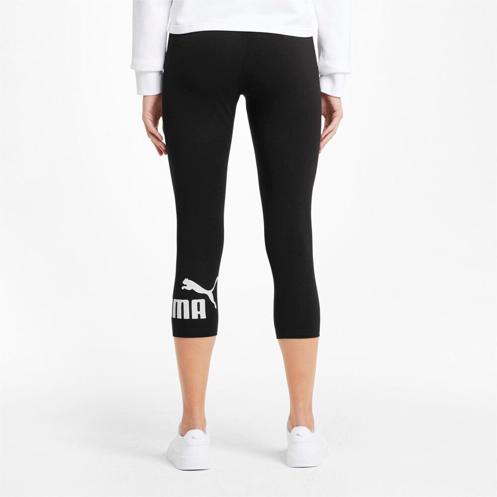 Imagen PUMA Leggings con logotipo y largo 3/4 para mujer Essentials #2