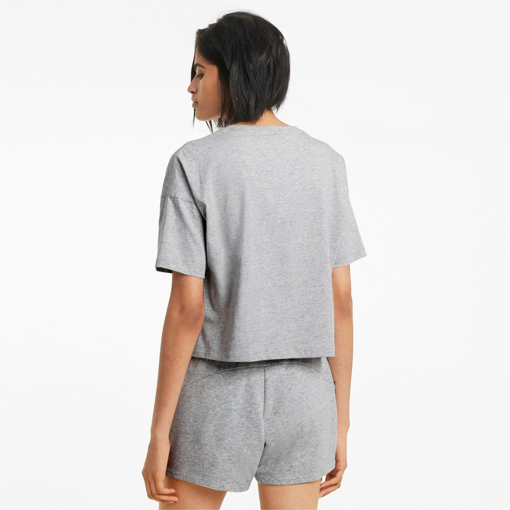 Image PUMA Camiseta Cropped Essentials Logo Feminina #2