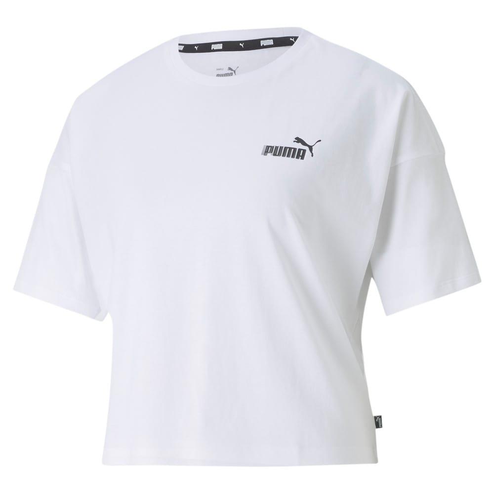 Image PUMA Camiseta Essentials Cropped Small Logo Feminina #1