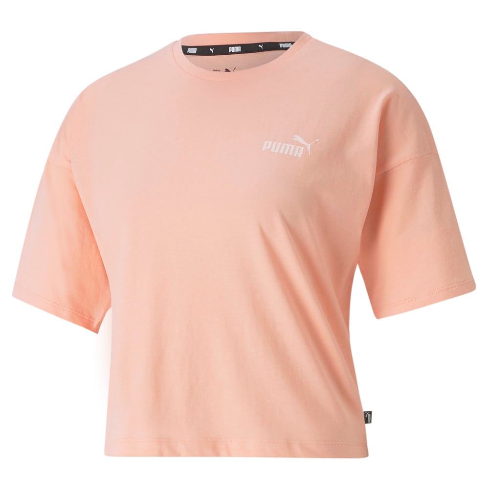 Изображение Puma Футболка Essentials Cropped Small Logo Women's Tee #1