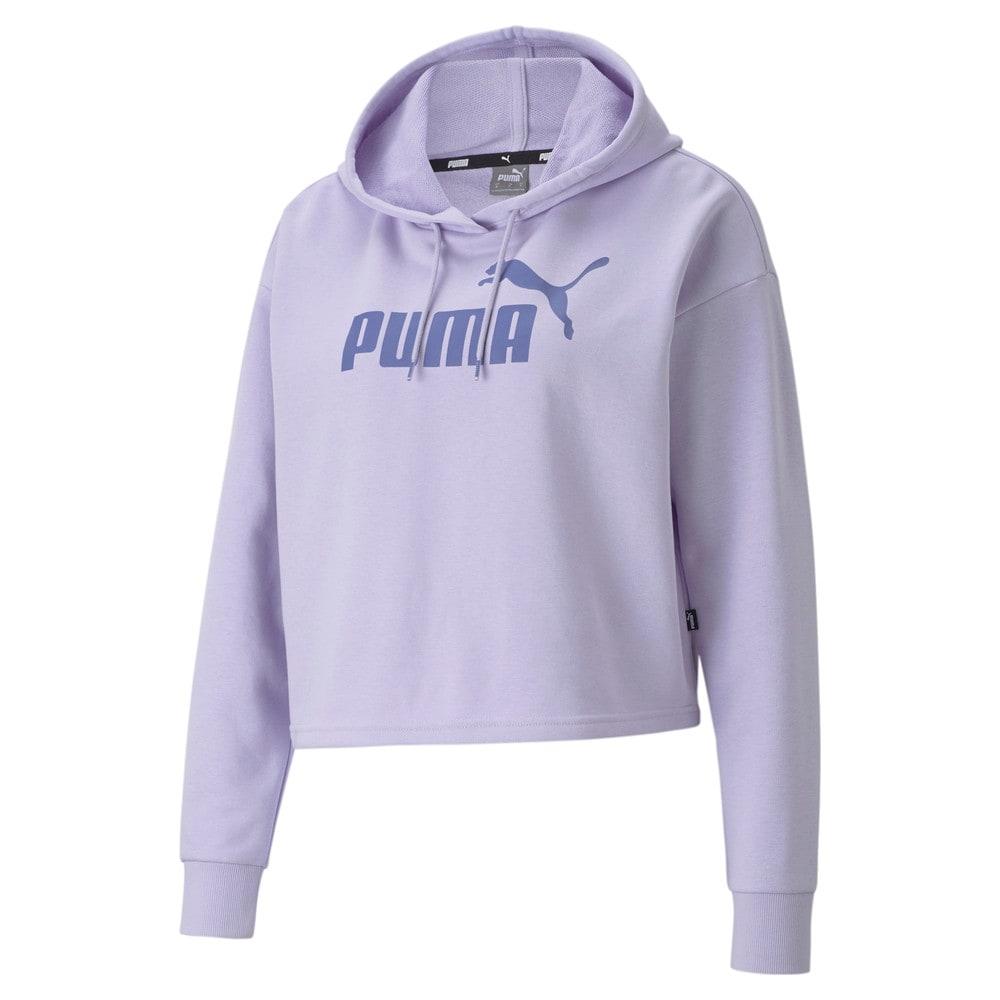 Изображение Puma Толстовка Essentials Logo Cropped Women's Hoodie #1