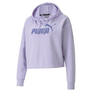 Изображение Puma Толстовка Essentials Logo Cropped Women's Hoodie