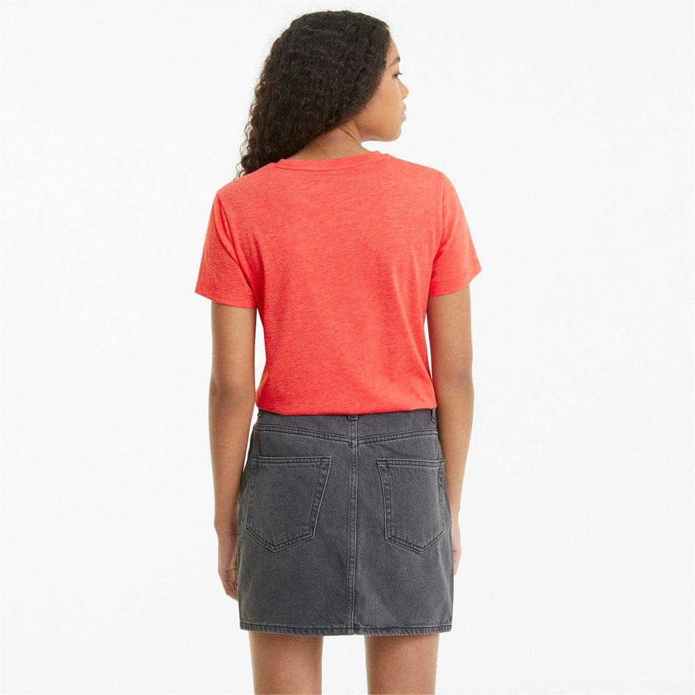 Imagen PUMA Polera con logotipo para mujer Essentials Heather #2