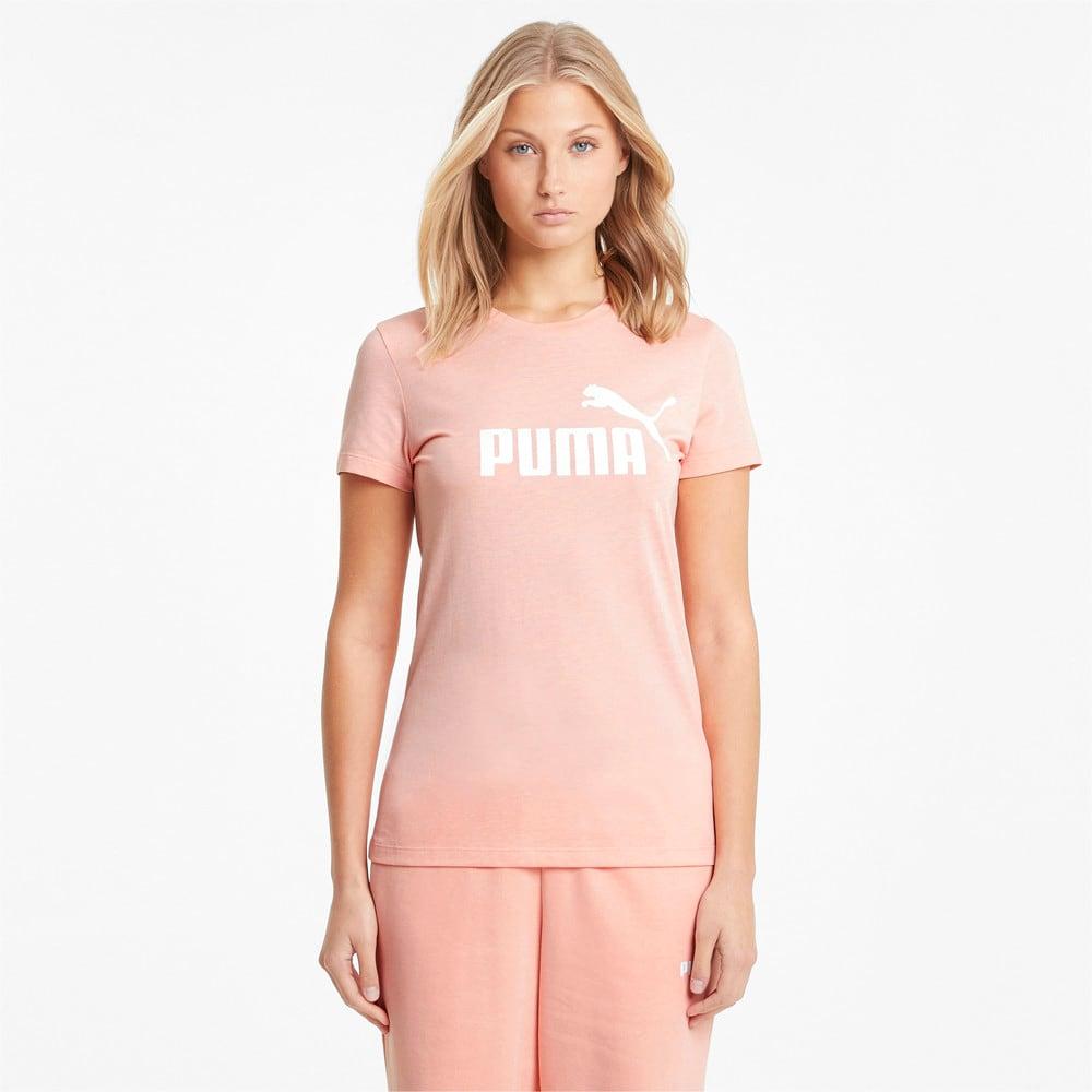 Imagen PUMA Polera con logotipo para mujer Essentials Heather #1