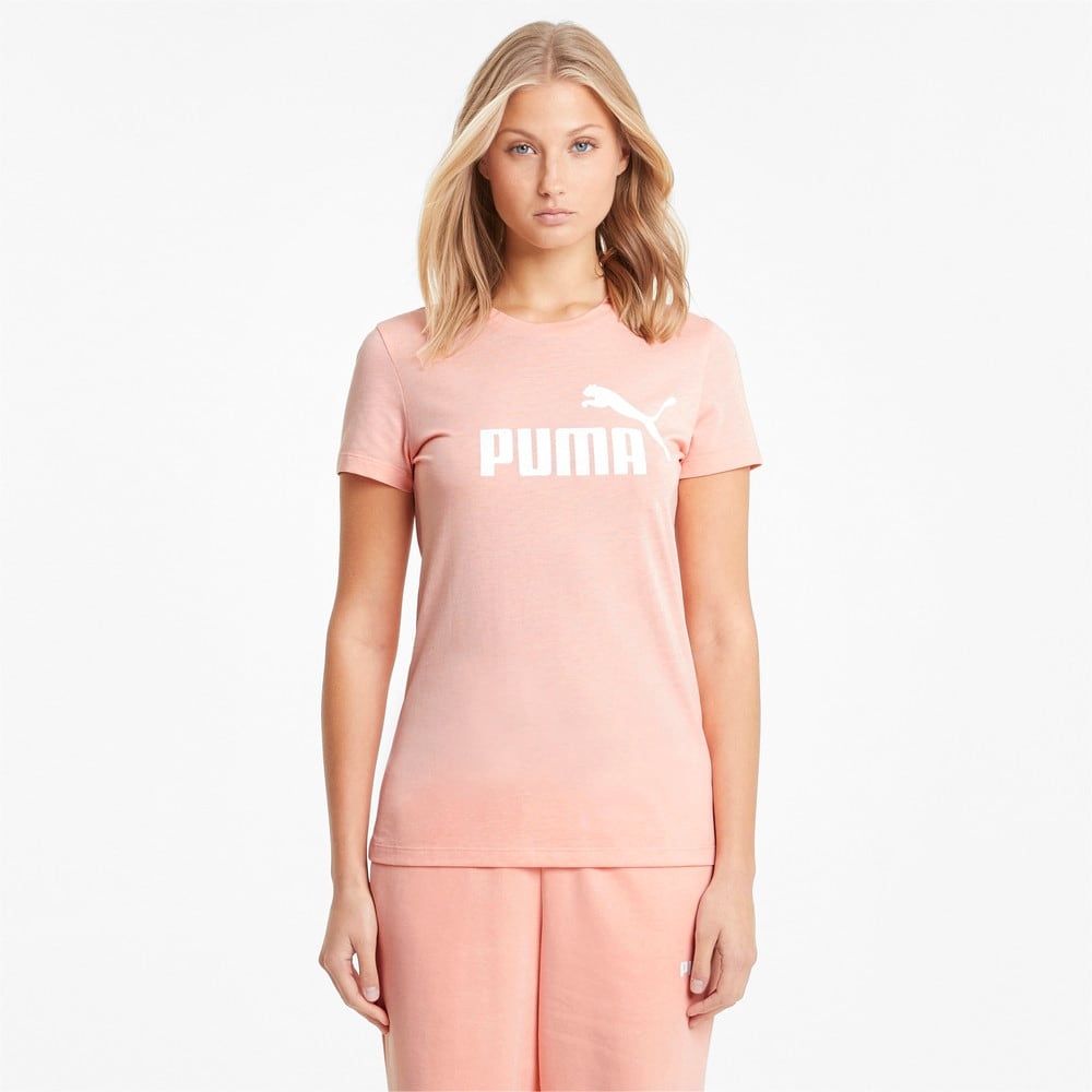 Изображение Puma Футболка Essentials Logo Heather Women's Tee #1