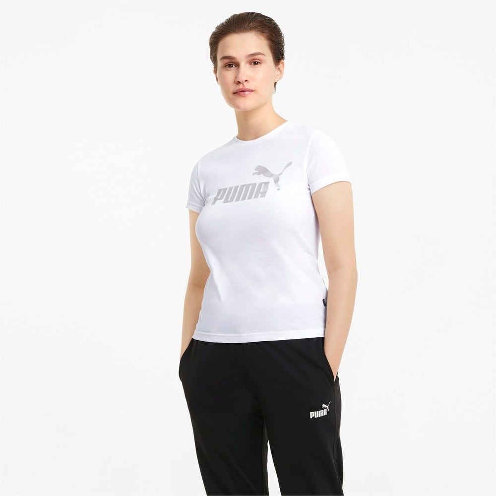 Image PUMA Camiseta Essentials+ Metallic Logo Feminina #1