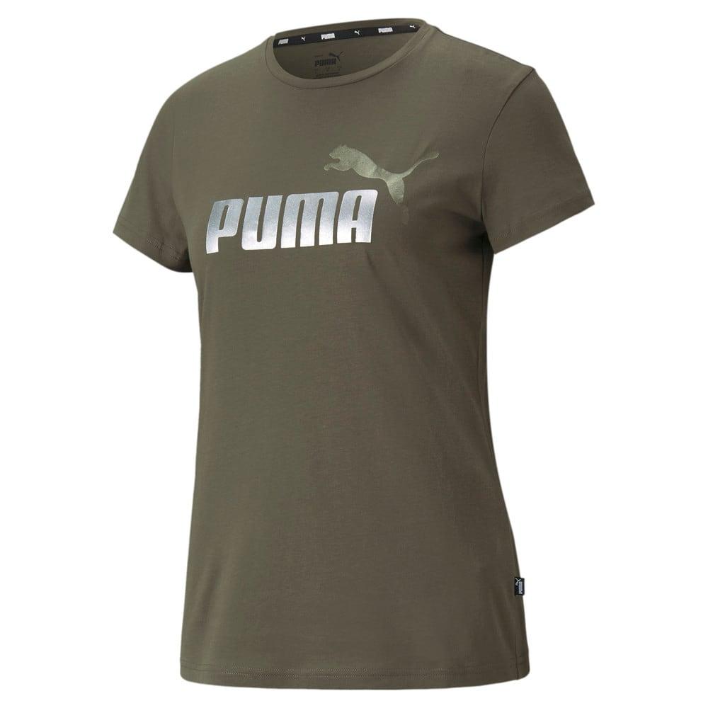 Изображение Puma Футболка Essentials+ Metallic Logo Women's Tee #1
