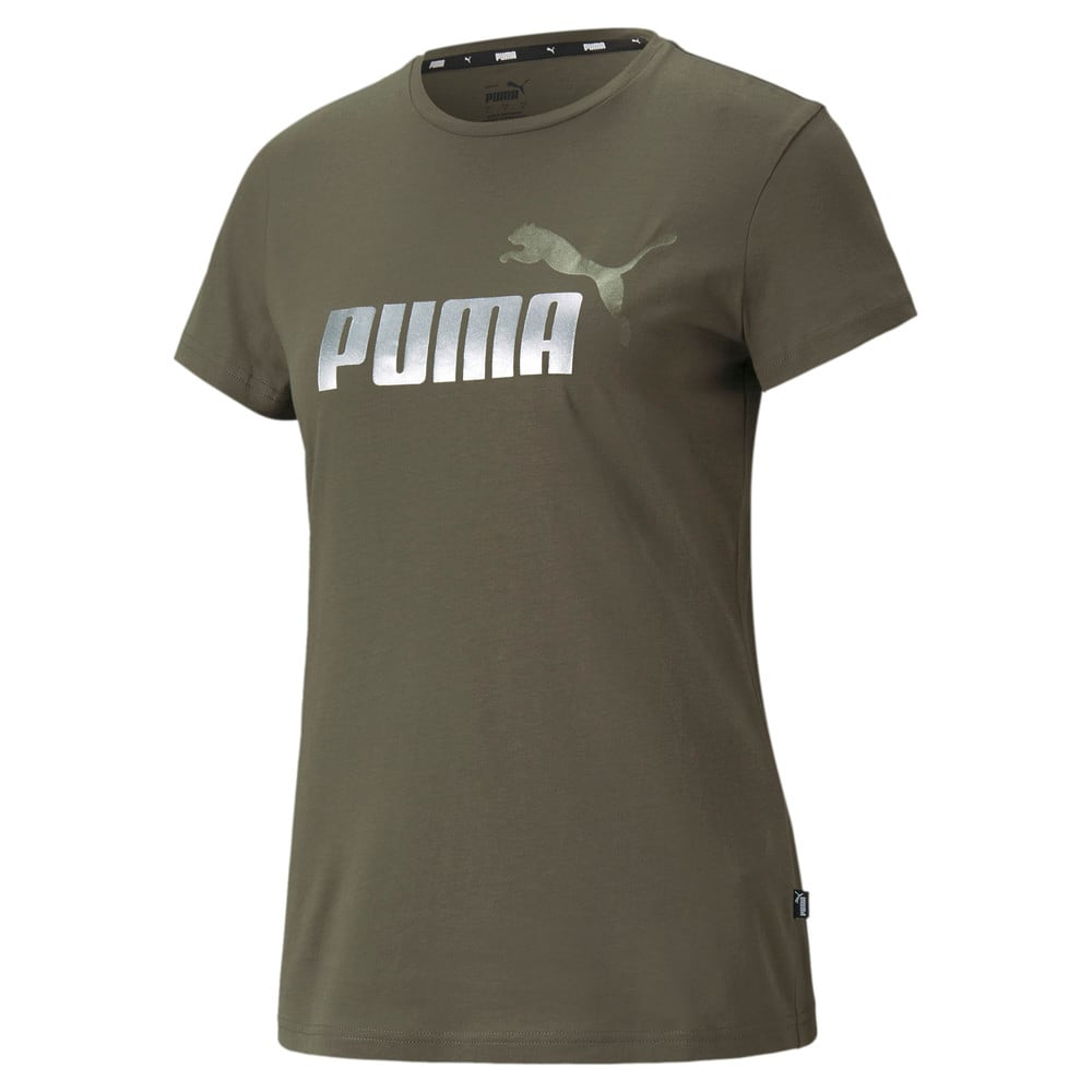 Зображення Puma Футболка Essentials+ Metallic Logo Women's Tee #1: Grape Leaf