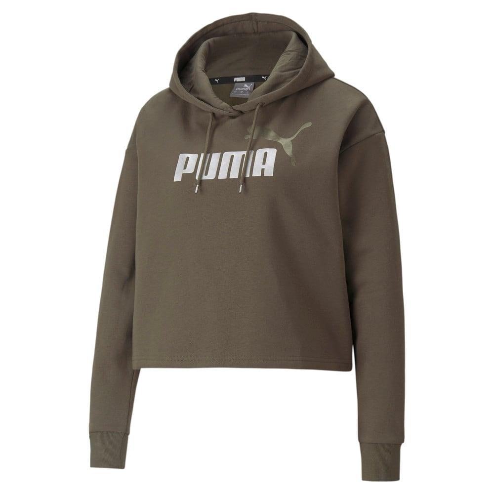 Изображение Puma Толстовка Essentials+ Cropped Metallic Women's Hoodie #1