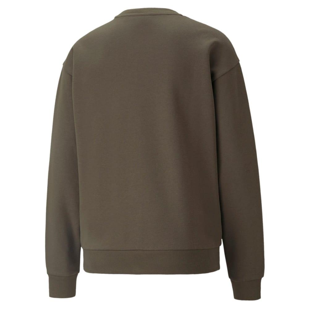 Зображення Puma Толстовка Essentials+ Metallic Logo Crew Neck Women's Sweatshirt #2: Grape Leaf-Silver