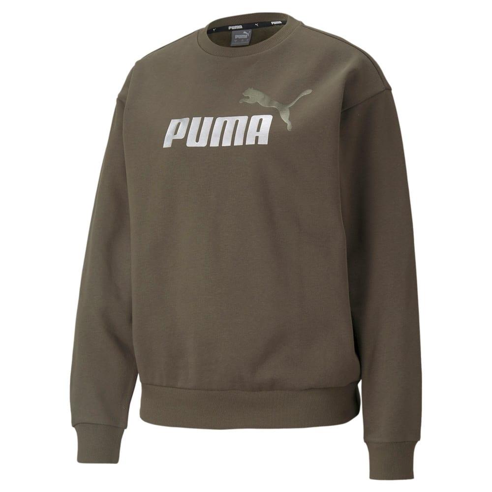 Зображення Puma Толстовка Essentials+ Metallic Logo Crew Neck Women's Sweatshirt #1: Grape Leaf-Silver