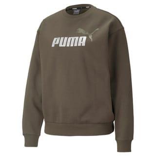 Изображение Puma Толстовка Essentials+ Metallic Logo Crew Neck Women's Sweatshirt