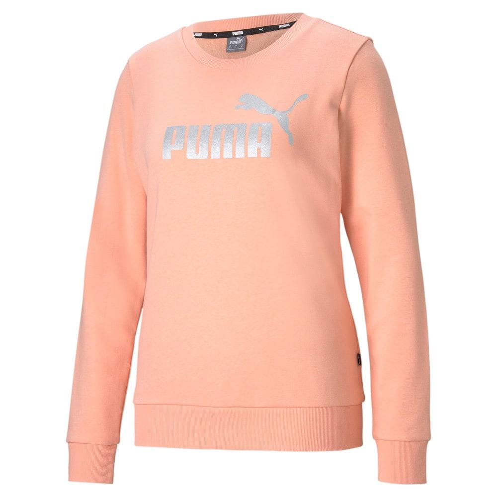 Изображение Puma Толстовка Essentials+ Metallic Logo Crew Neck Women's Sweater #1