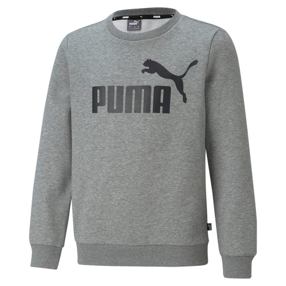 Imagen PUMA Polerón juvenil de cuello redondo y logotipo grande Essentials #1