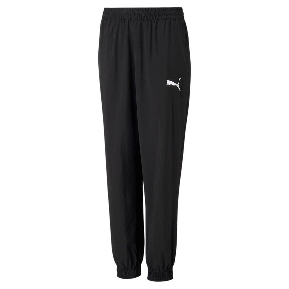 Изображение Puma Детские штаны Active Woven Youth Sweatpants #1