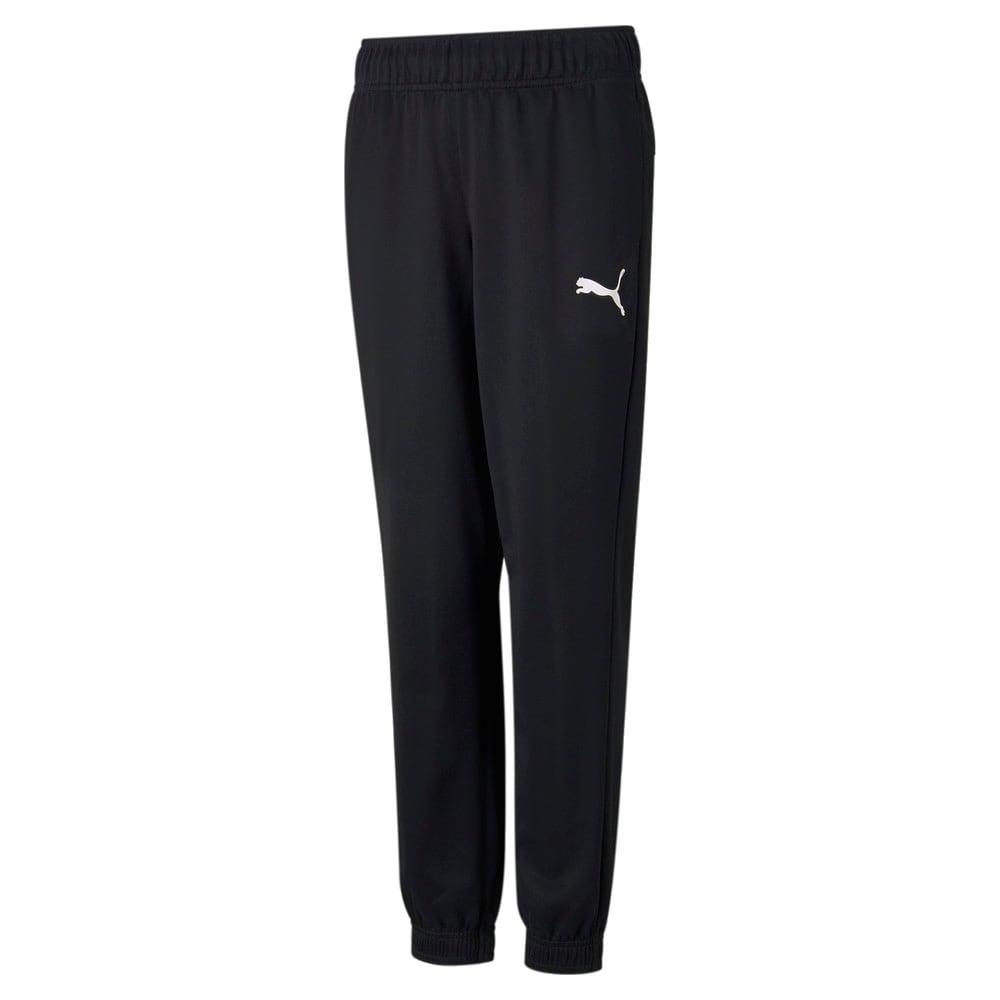 Изображение Puma Детские штаны Active Tricot Youth Sweatpants #1: Puma Black