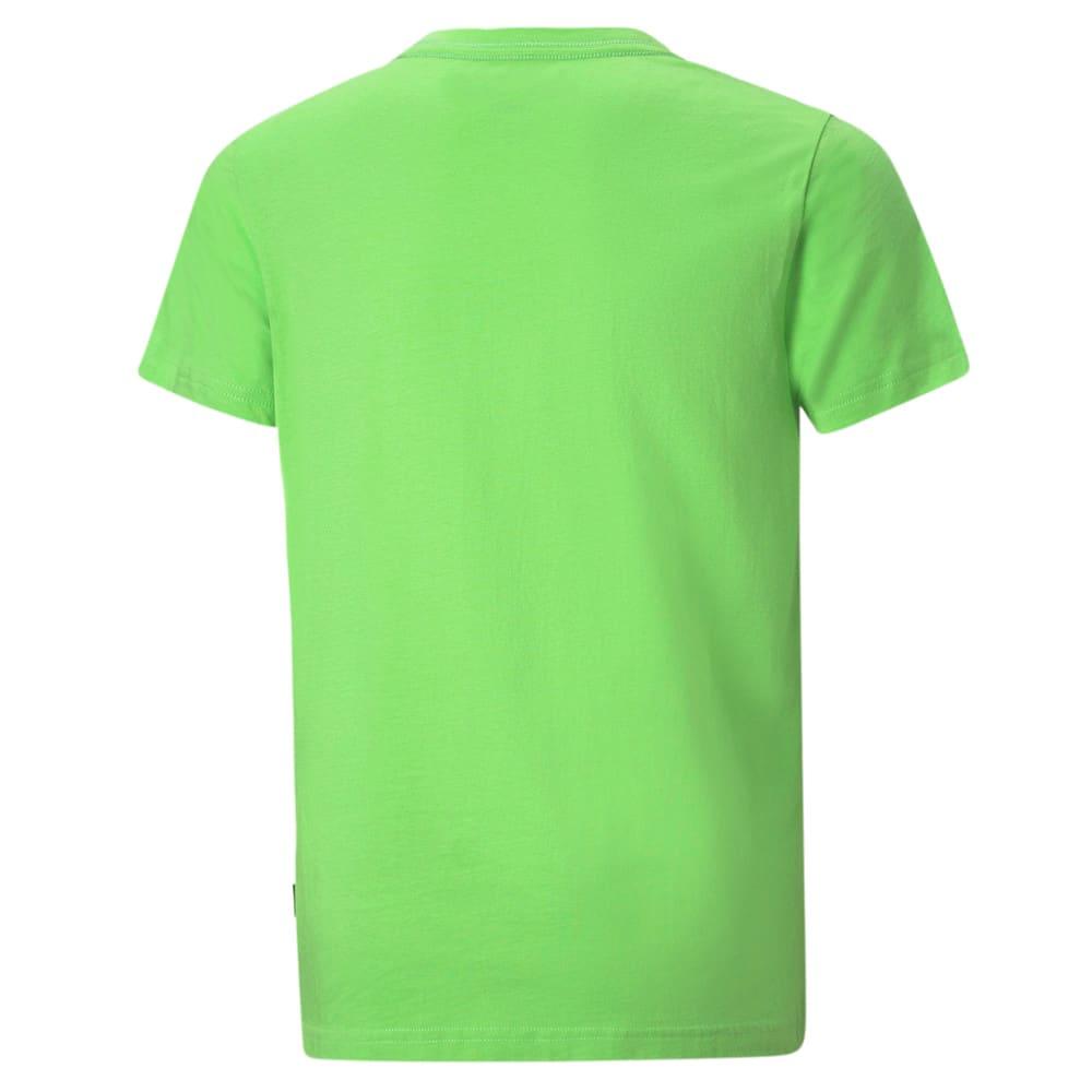 Изображение Puma Детская футболка Essentials+ Two-Tone Logo Youth Tee #2: green flash