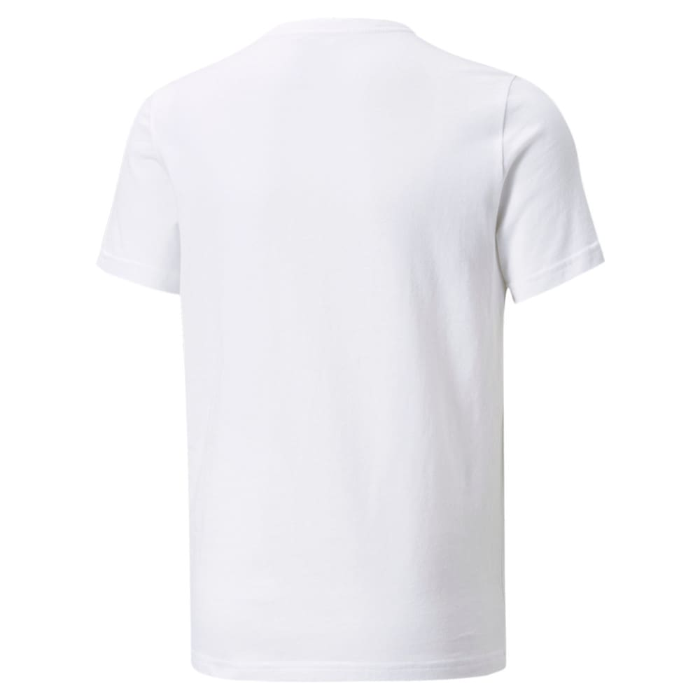Изображение Puma Детская футболка Essentials+ Two-Tone Logo Youth Tee #2: Puma White-High Risk Red