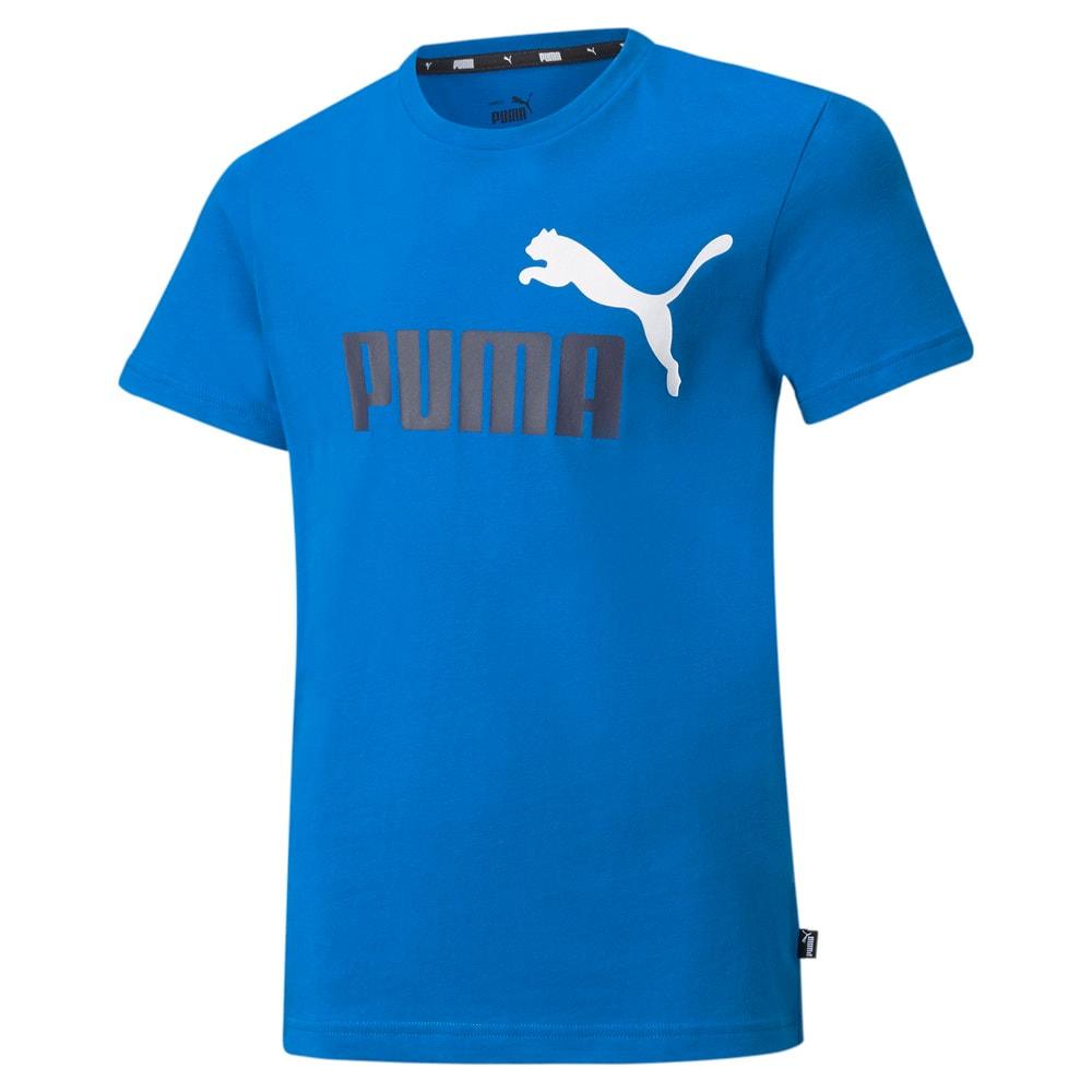 Изображение Puma Детская футболка Essentials+ Two-Tone Logo Youth Tee #1