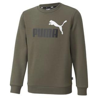 Зображення Puma Дитяча толстовка Essentials+ Two-Tone Big Logo Crew Neck Youth Sweater