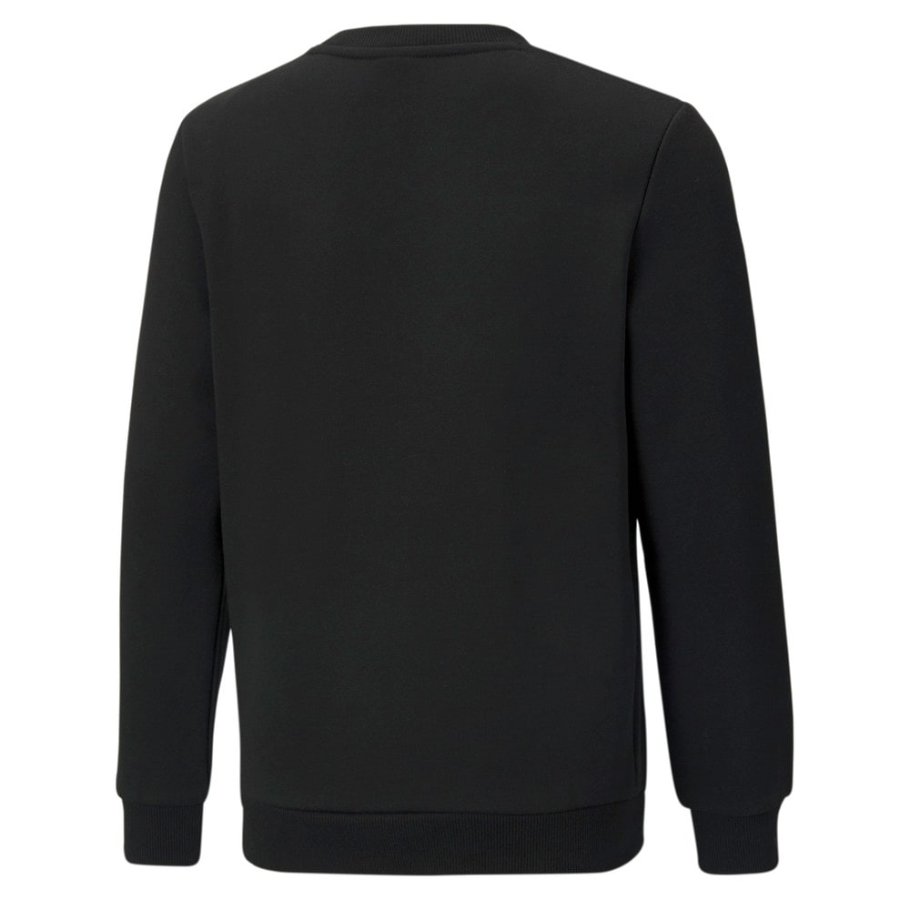 Зображення Puma Дитяча толстовка Essentials+ Two-Tone Big Logo Crew Neck Youth Sweater #2: Puma Black-Green Flash