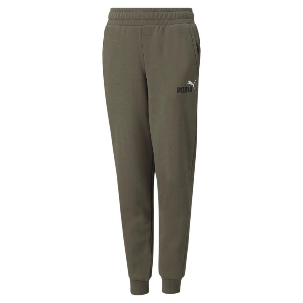 Изображение Puma Детские штаны Essentials+ Two-Tone Logo Youth Pants #1: Grape Leaf
