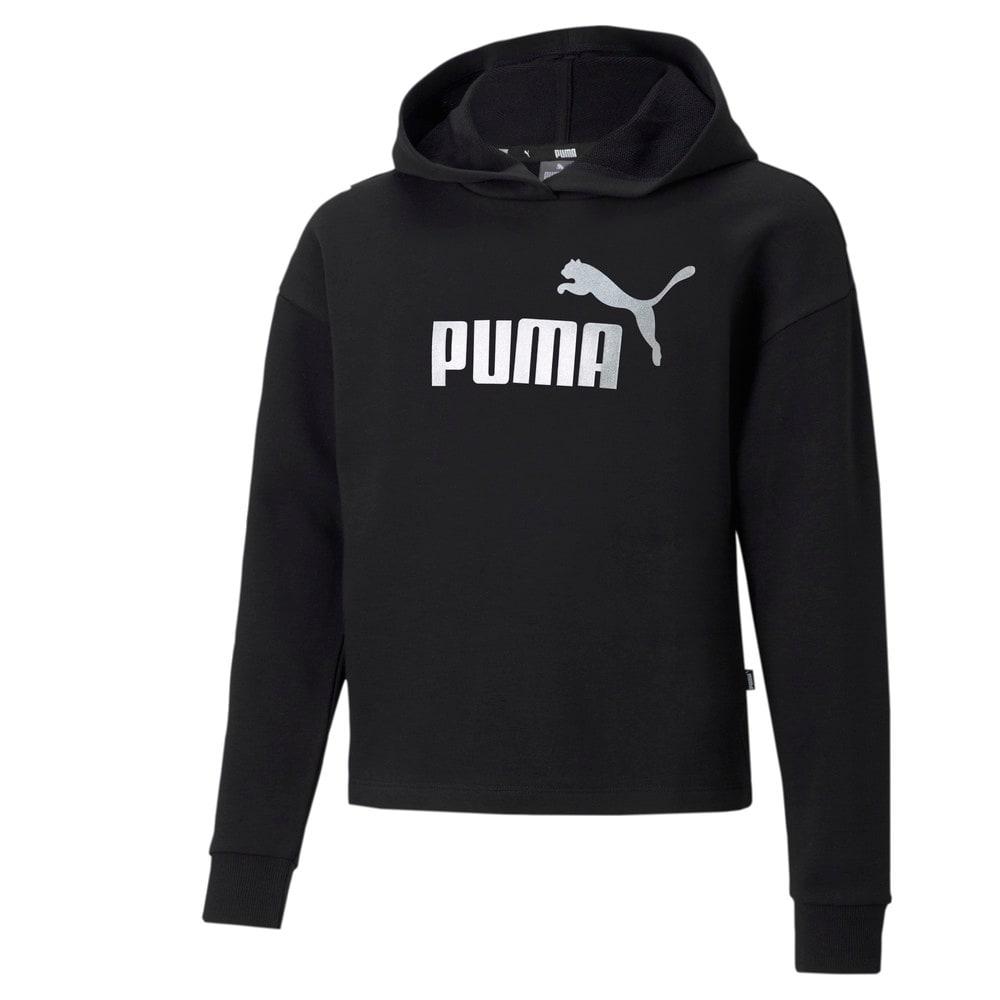 Изображение Puma Детская толстовка Essentials+ Logo Cropped Youth Hoodie #1