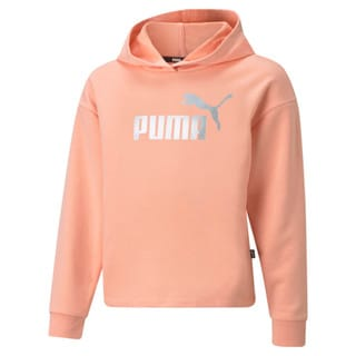 Изображение Puma Детская толстовка Essentials+ Logo Cropped Youth Hoodie