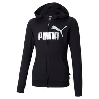 Изображение Puma Толстовка Essentials+ Logo Full-Zip Youth Hoodie