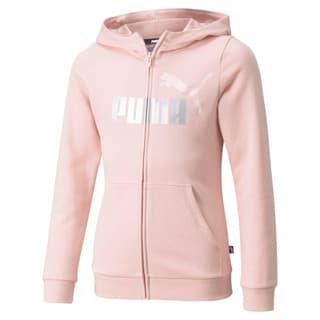 Изображение Puma Детская толстовка Essentials+ Logo Full-Zip Youth Hoodie