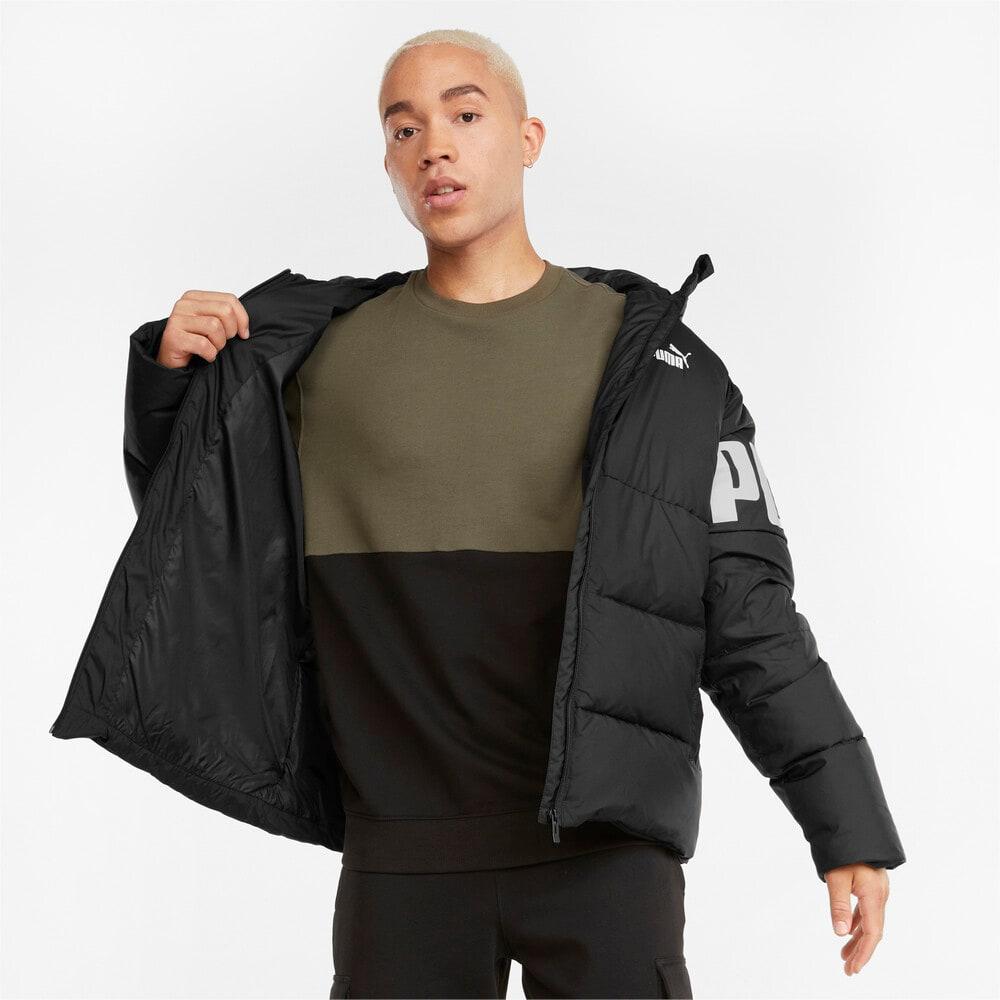 Изображение Puma Куртка Essentials+ CB Down Men's Jacket #1: Puma Black-white print