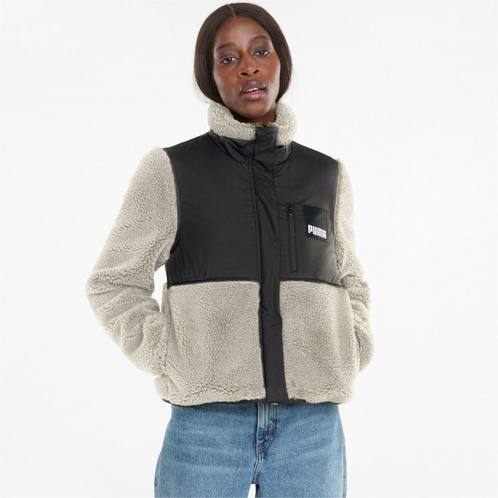 Изображение Puma Бомбер Sherpa Hybrid Women's Jacket #1