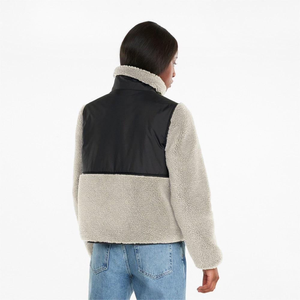 Изображение Puma Бомбер Sherpa Hybrid Women's Jacket #2