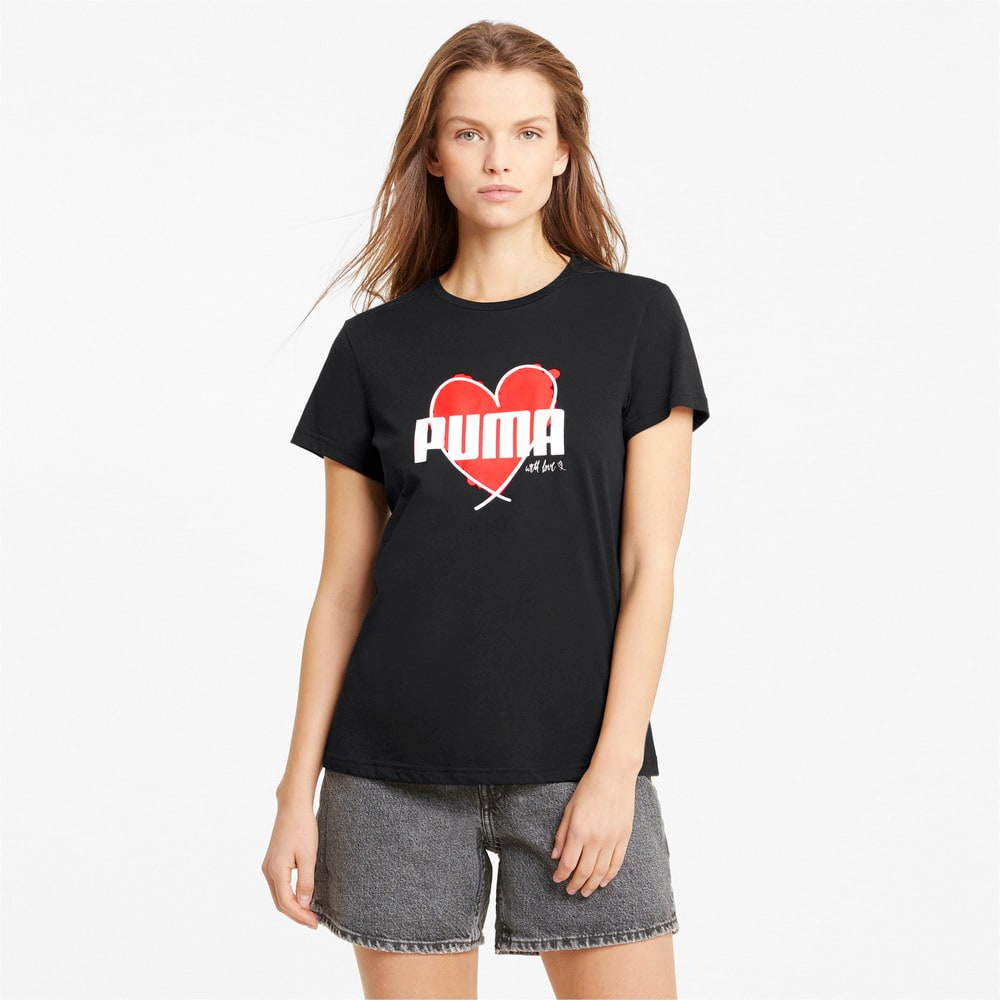 Görüntü Puma VALENTINE Heart T-shirt #1