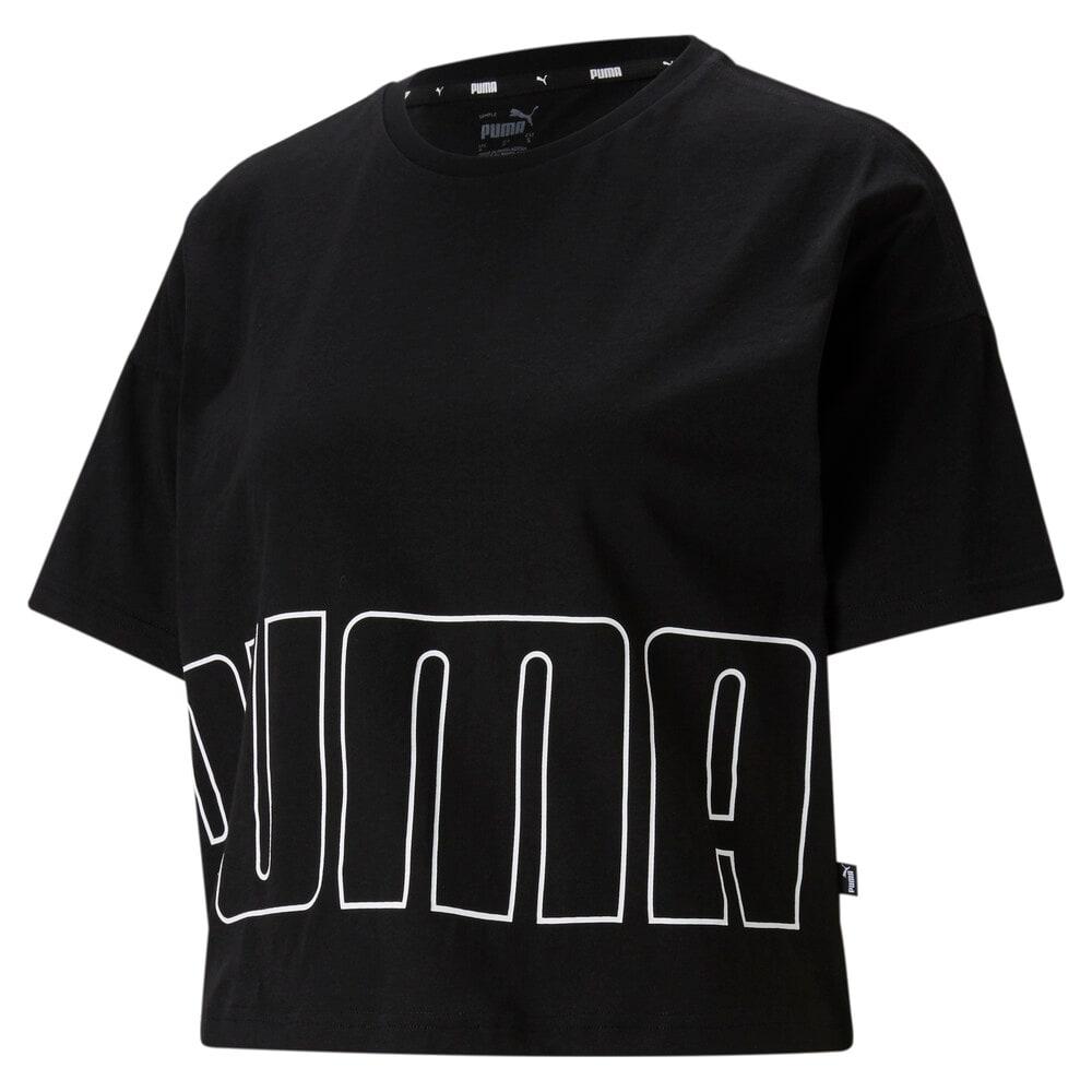 Image PUMA Camiseta Logo Cropped Feminina #1