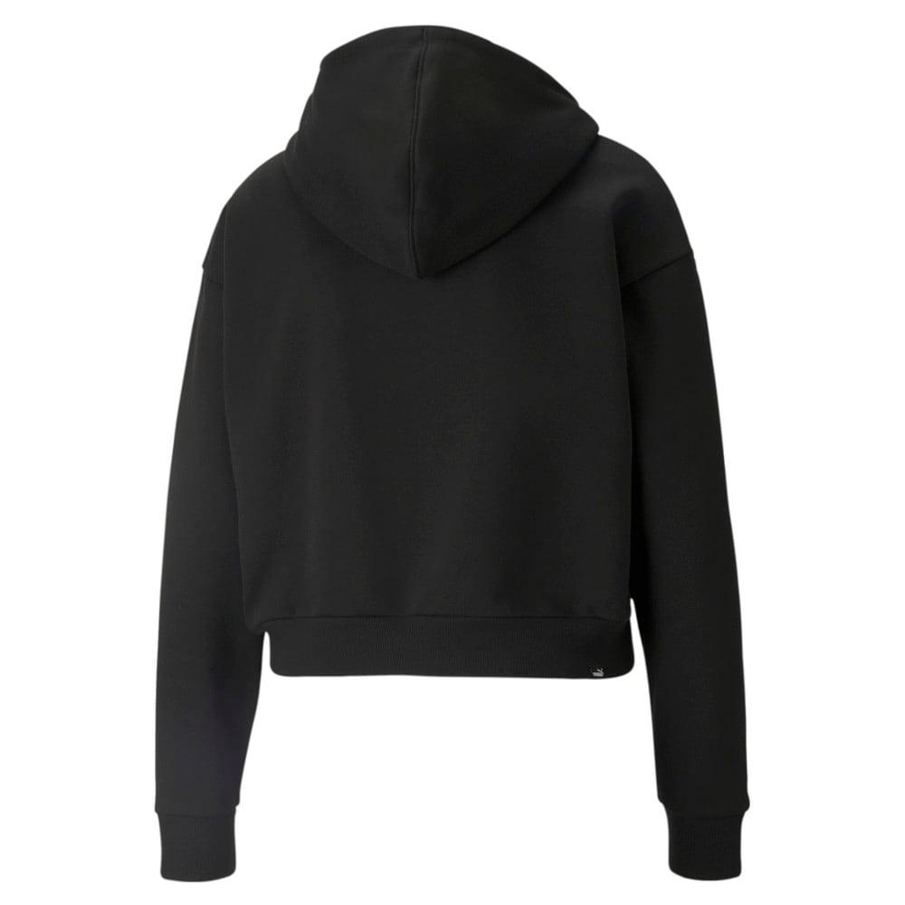 Зображення Puma Толстовка Essentials+ Embroidered Cropped Women's Hoodie #2: Puma Black