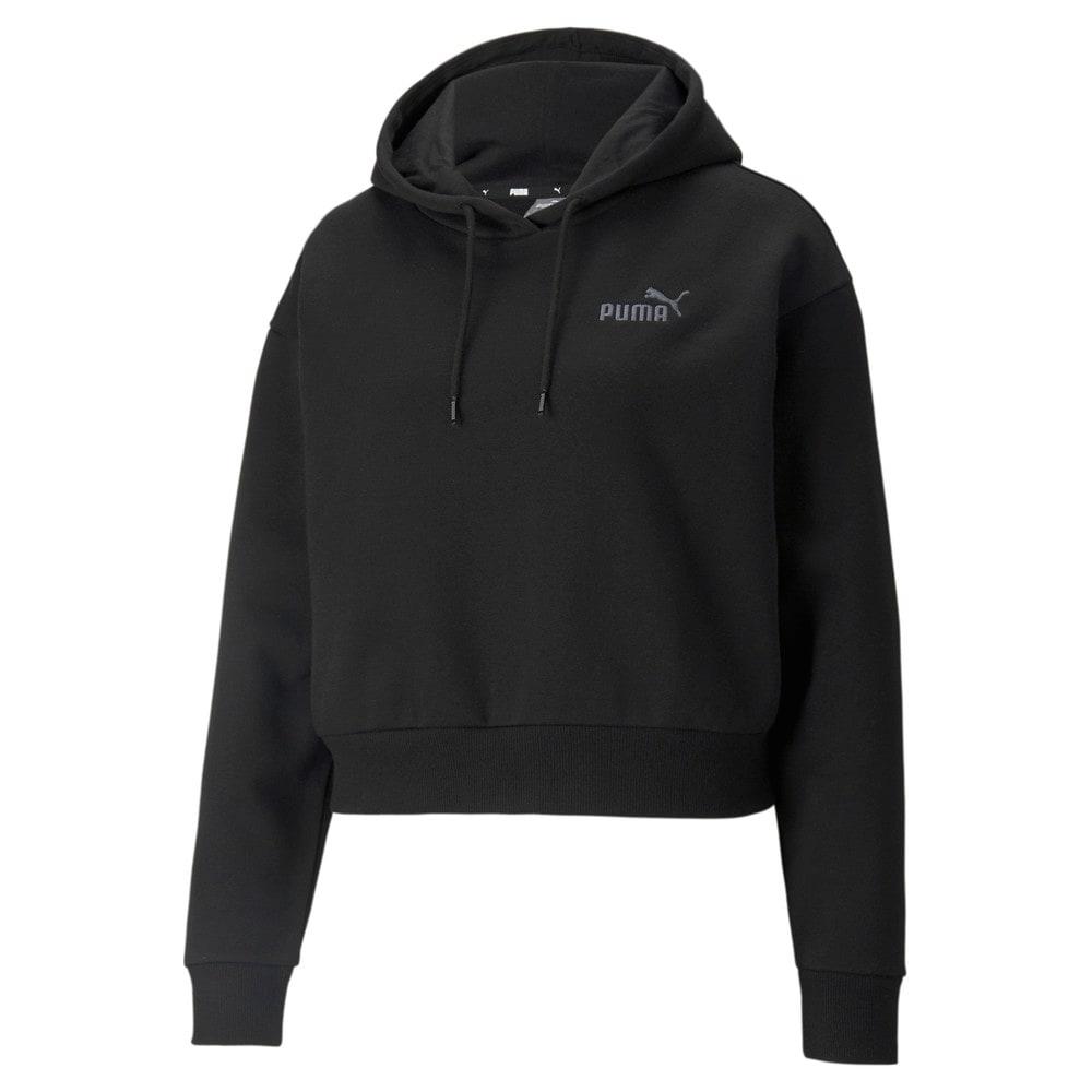 Зображення Puma Толстовка Essentials+ Embroidered Cropped Women's Hoodie #1: Puma Black