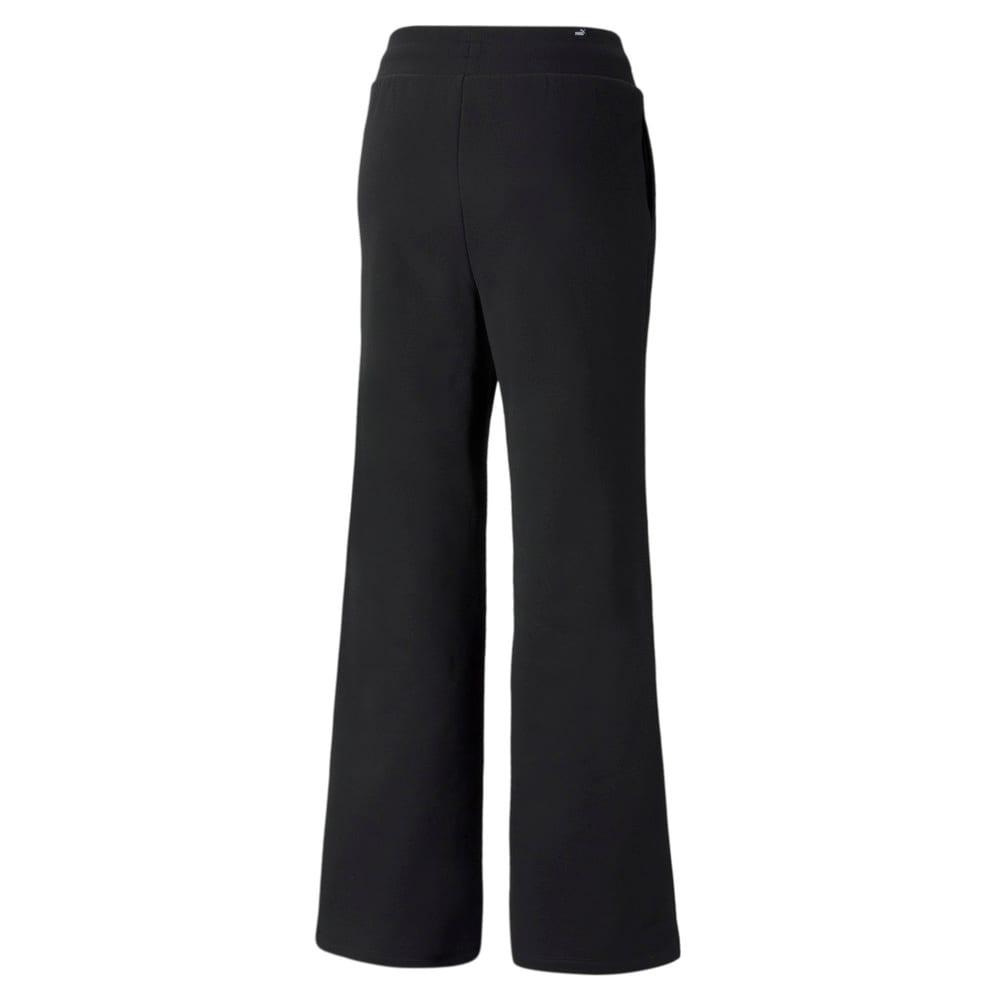 Зображення Puma Штани Essentials+ Embroidered Wide Women's Pants #2: Puma Black