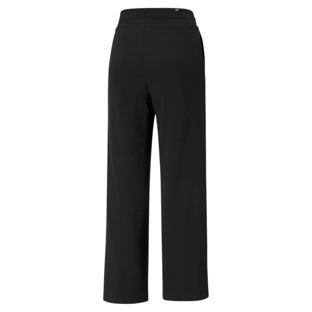Зображення Puma Штани Essentials Embroidered Women's Wide Pants #2: Puma Black