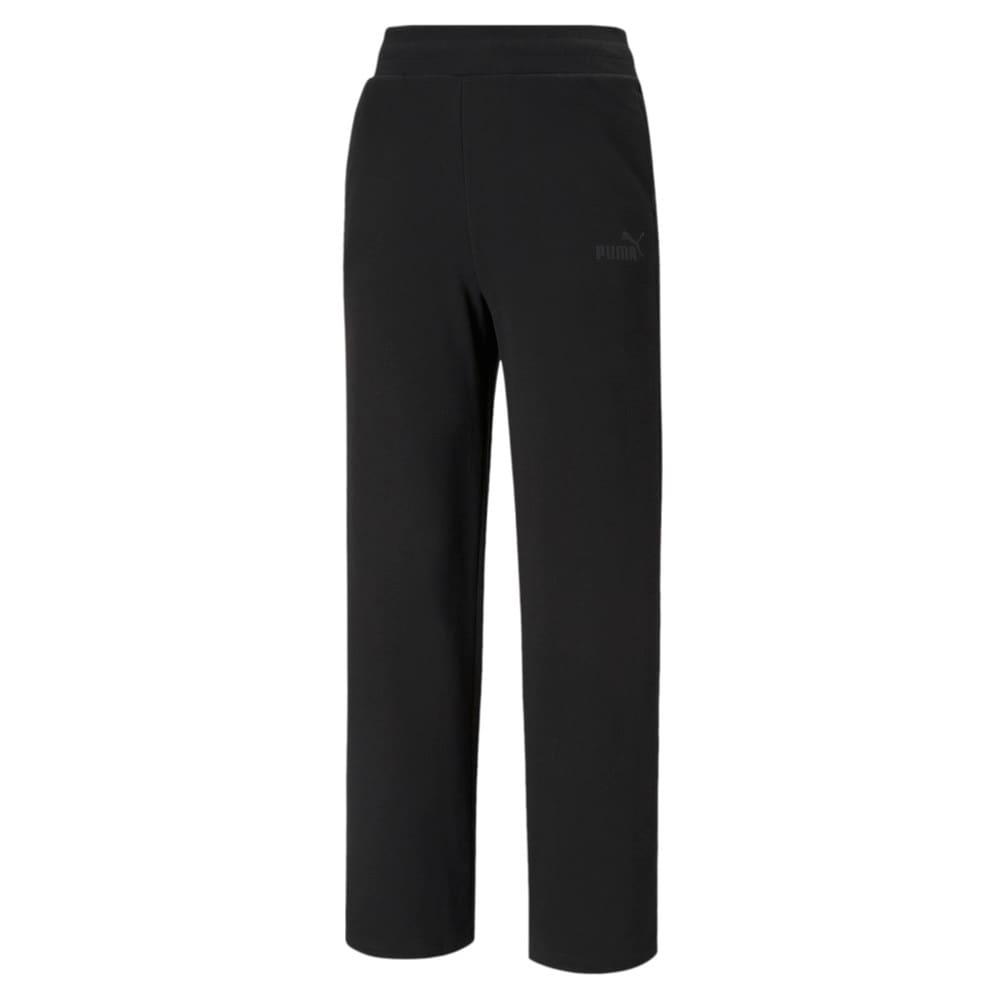 Зображення Puma Штани Essentials Embroidered Women's Wide Pants #1: Puma Black