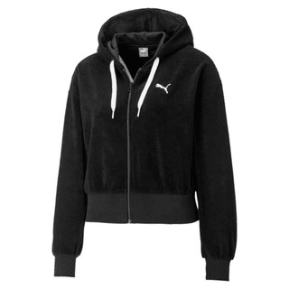 Изображение Puma Толстовка Towel Cropped Full Zip Women's Hoodie