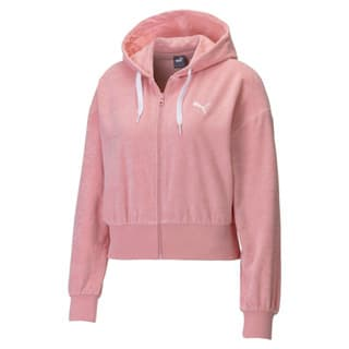 Зображення Puma Толстовка Towel Cropped Full Zip Women's Hoodie