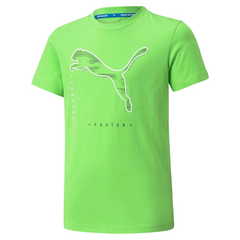 Изображение Puma Футболка Active Sport Graphic Youth Tee #1: green flash