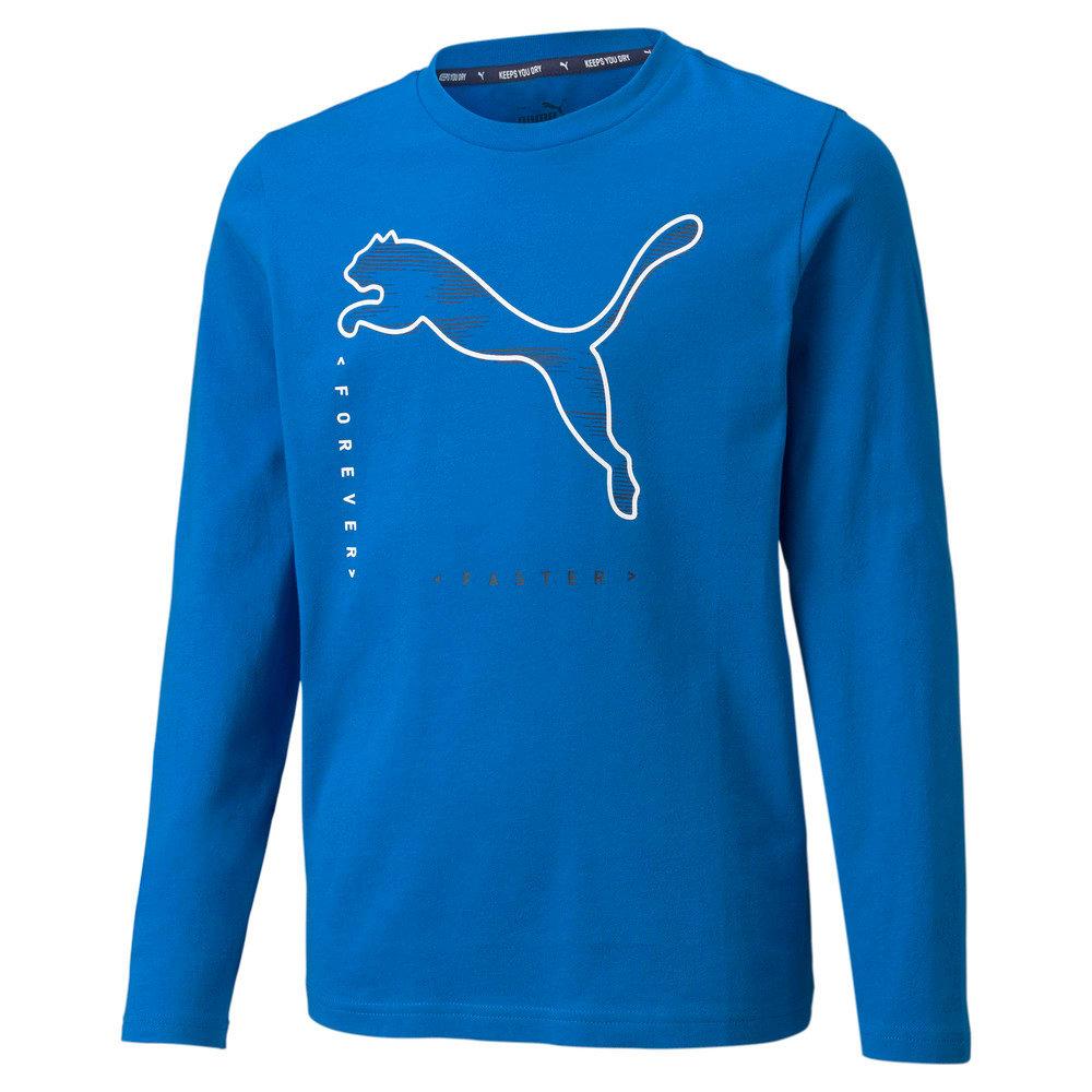 Изображение Puma Детская футболка с длинным рукавом Active Sport Long Sleeve Youth Tee #1