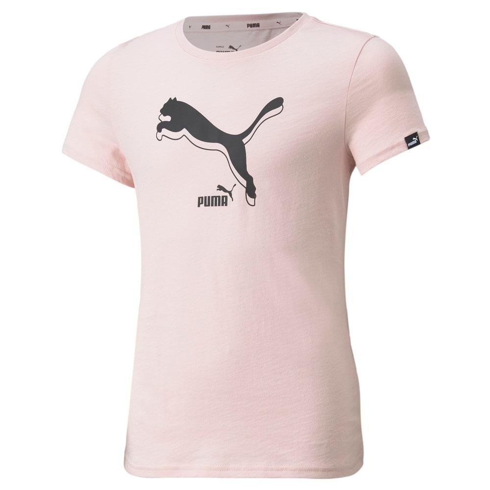 Изображение Puma Детская футболка Power Logo Youth Tee #1: Lotus