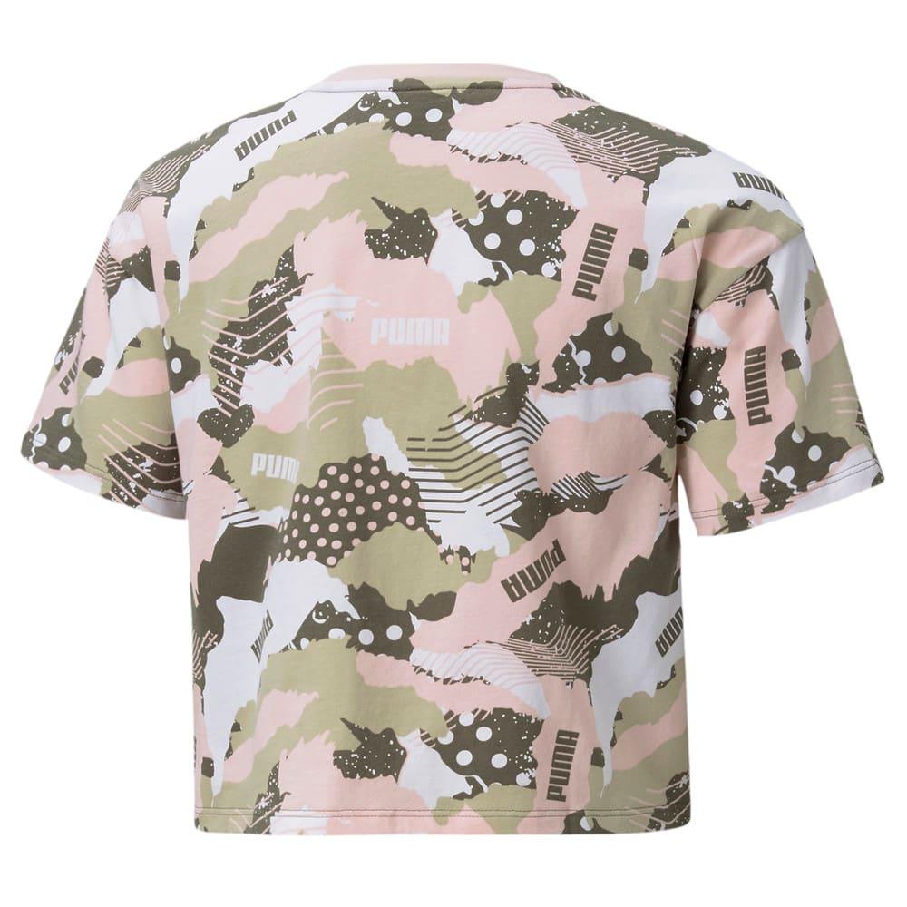 Изображение Puma Детская футболка Alpha Printed Youth Tee #2: Grape Leaf-AOP